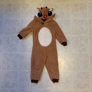 Toddler Rudolph onesie size 4T